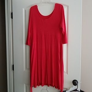 XL Motherhood Maternity tomato red dress with tie